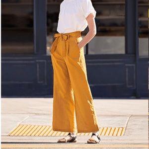 Uniqlo yellow wide leg pants